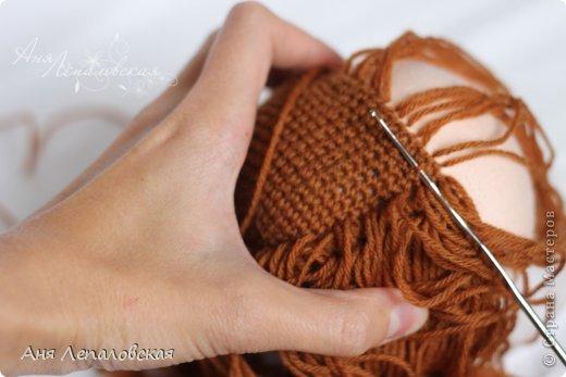 МК волосы вальдорфской кукле фото 17