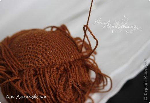 МК волосы вальдорфской кукле фото 18