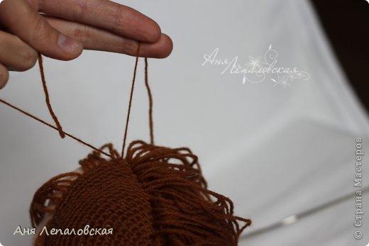 МК волосы вальдорфской кукле фото 20