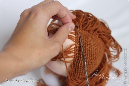 МК волосы вальдорфской кукле фото 21