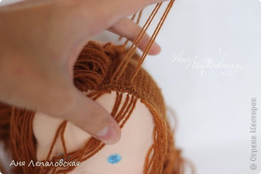 МК волосы вальдорфской кукле фото 25