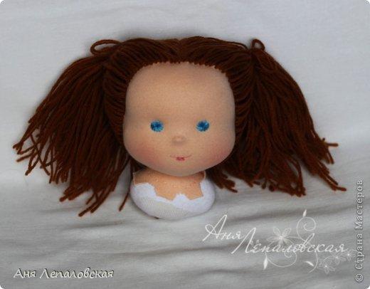 МК волосы вальдорфской кукле фото 27