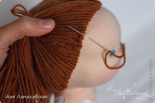 МК волосы вальдорфской кукле фото 28