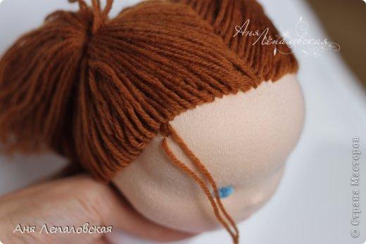 МК волосы вальдорфской кукле фото 29