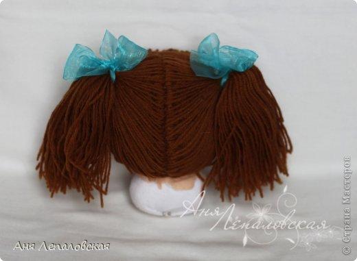 МК волосы вальдорфской кукле фото 31