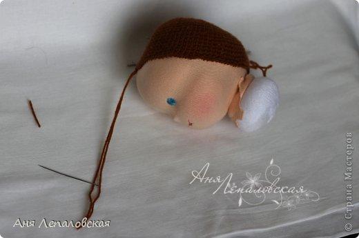 МК волосы вальдорфской кукле фото 4