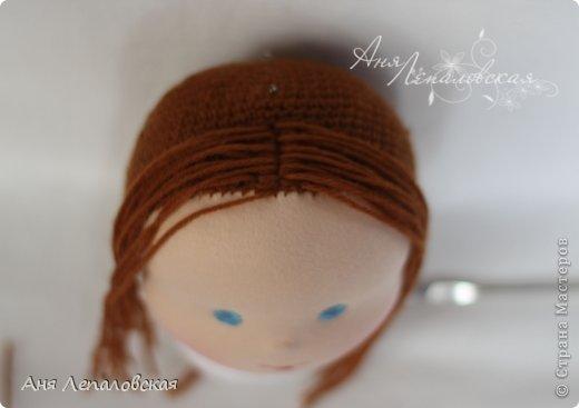 МК волосы вальдорфской кукле фото 7