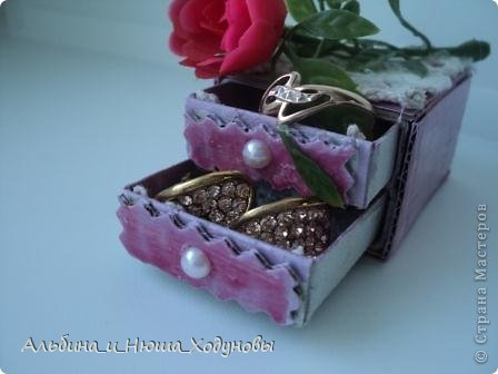 Вот такой комодик из спичечных коробков я сделала для сестры ( она очень любит всякие коробочки, шкатулочки). фото 7