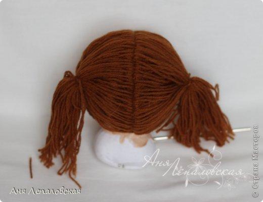 МК волосы вальдорфской кукле фото 8