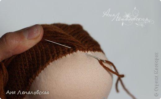 МК волосы вальдорфской кукле фото 9