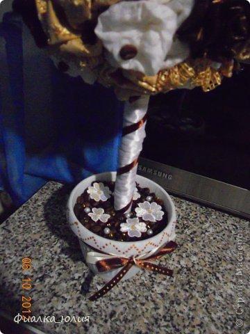 Теперь у меня тоже есть в саду кофейно сливочное текстильное дерево.  Такое ароматное!!! фото 3