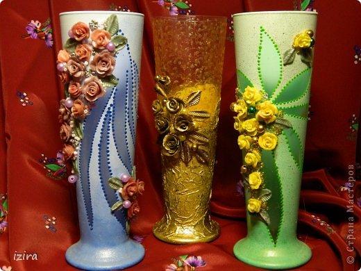 Получились вот такие мини-вазочки фото 1
