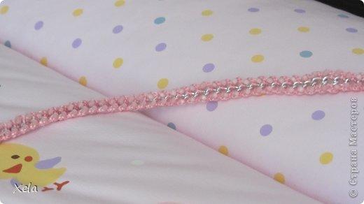 Двусторонняя обвязка цепи, с бисером 3 цветов. Сочный и очень блестит :) фото 3