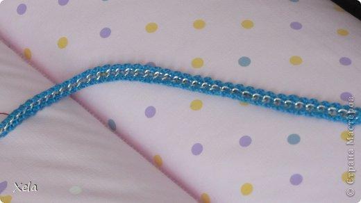 Двусторонняя обвязка цепи, с бисером 3 цветов. Сочный и очень блестит :) фото 4