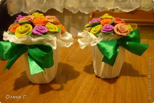 Маленькие букетики из холодного фарфора. фото 2