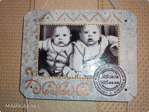Пано на юбилей близнецам.Первые две доски одинаковые а третьи разные уже с семьями. фото 11