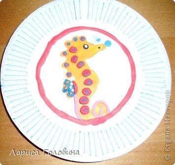Замечательного морского конька увидела у  Флоримель https://stranamasterov.ru/node/418601 Сделали с детьми вариант попроще. фото 7
