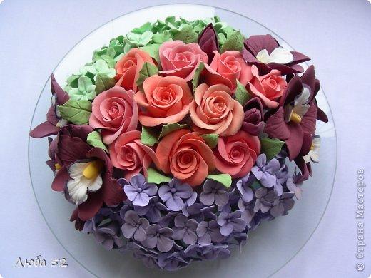 Цветочная композиция. Розы орхидеи. фото 1