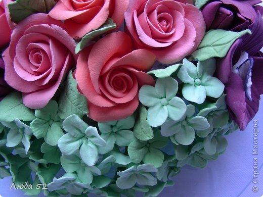 Цветочная композиция. Розы орхидеи. фото 2