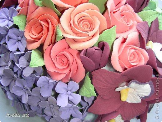Цветочная композиция. Розы орхидеи. фото 3