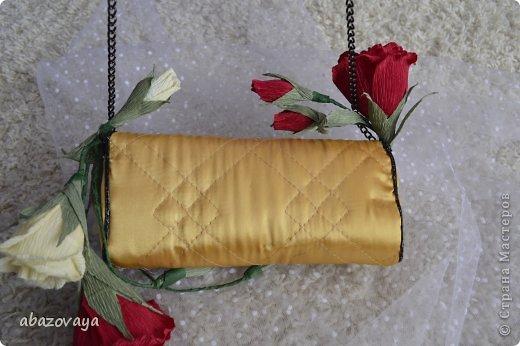 """Всем доброго времени суток!!! Попросили меня сделать маленькую сумочку """"Шанель"""", и вот не долго думая я побежала приобретать подходящую ткань, очень уж хотелось что бы она была похожа на настоящую...... ну собственно вот что у меня вышло. фото 5"""
