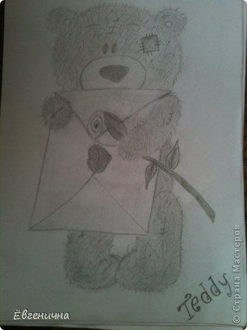 Захотелось чуть-чуть порисовать))) Мишка тедди фото 1