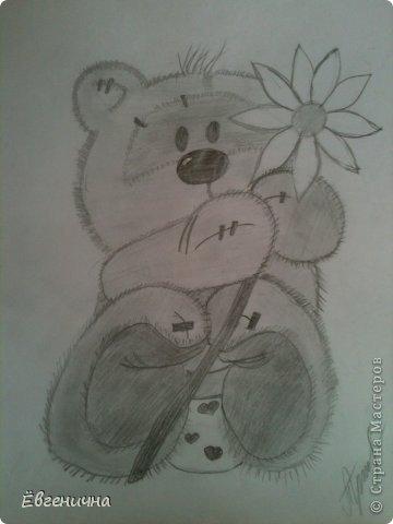 Захотелось чуть-чуть порисовать))) Мишка тедди фото 2