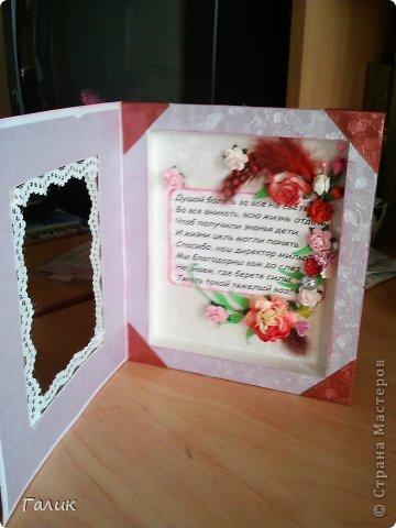 Основа этой коробочки сделана из бумаги дая акварели. Декорирована тиснёной бумагой, перьями,скрап цветами, кружевом. фото 2