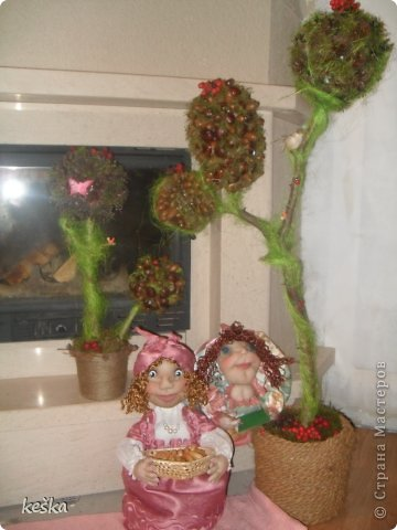 деревья поделки в садик и школу.попик-учитель, куколка-грелка. фото 1