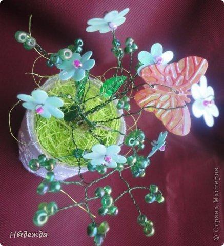 Ко дню учителя Вероника делалет подарки сама. Вои в этом году она решила сделать бисерные букетики с цветочками.  фото 7
