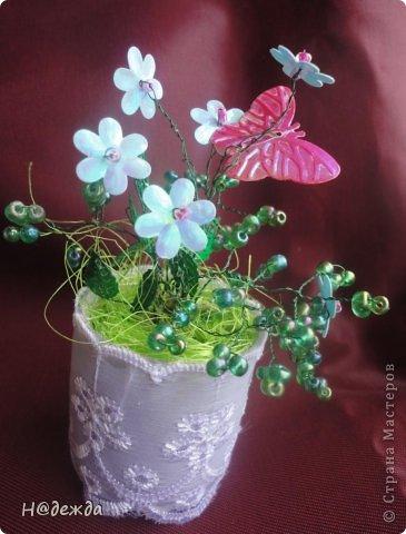 Ко дню учителя Вероника делалет подарки сама. Вои в этом году она решила сделать бисерные букетики с цветочками.  фото 8