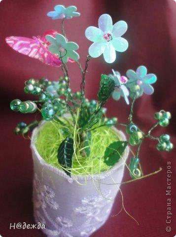 Ко дню учителя Вероника делалет подарки сама. Вои в этом году она решила сделать бисерные букетики с цветочками.  фото 9