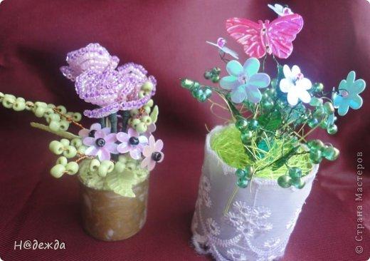 Ко дню учителя Вероника делалет подарки сама. Вои в этом году она решила сделать бисерные букетики с цветочками.  фото 10