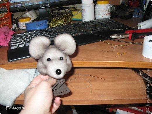 Каркасная мышка,лапки,хвостик подвижны. фото 4