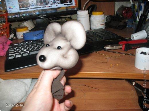 Каркасная мышка,лапки,хвостик подвижны. фото 5