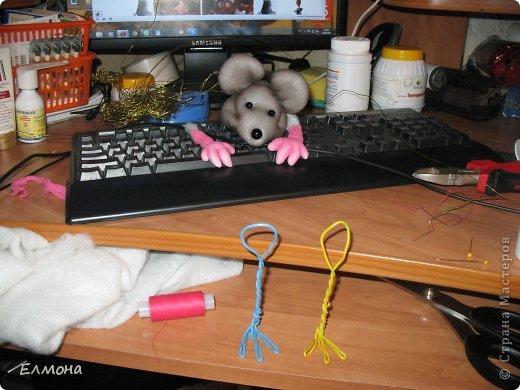 Каркасная мышка,лапки,хвостик подвижны. фото 7