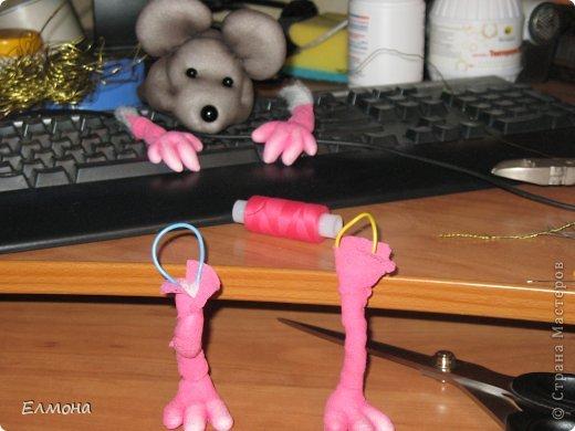 Каркасная мышка,лапки,хвостик подвижны. фото 8
