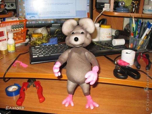 Каркасная мышка,лапки,хвостик подвижны. фото 11