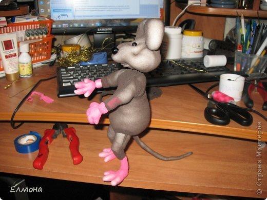Каркасная мышка,лапки,хвостик подвижны. фото 12