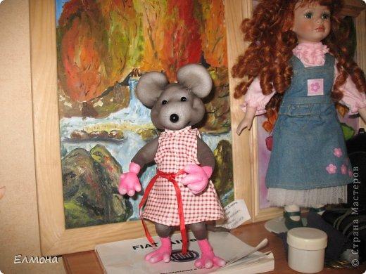 Каркасная мышка,лапки,хвостик подвижны. фото 13