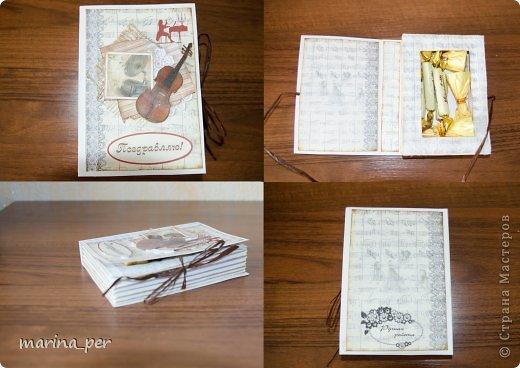 В этом году решила попробовать себя в новом творческом  направлении:) Подарки из конфет и шоколада делались  мною впервые.  Учителям, по-моему, понравилось:)))  Шоколадная парта. Ушло 40 маленьких шоколадок:) фото 3