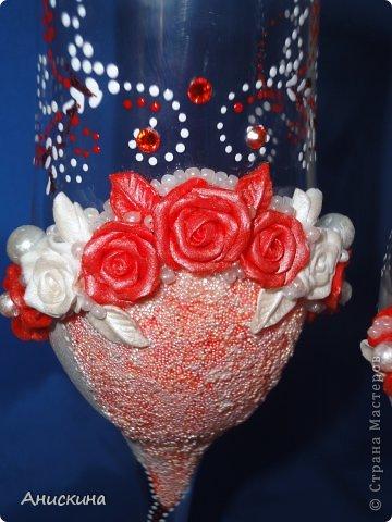"""Свадебный набор """"Люблю"""". Не могла купить белые свечи. Пришлось купить красные. Красные свечи на столе даже ярко смотрелись. Результатом довольна. Невесте понравилось. фото 3"""