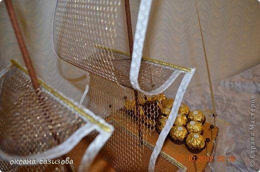 Мой первый конфетный кораблик!!! фото 3