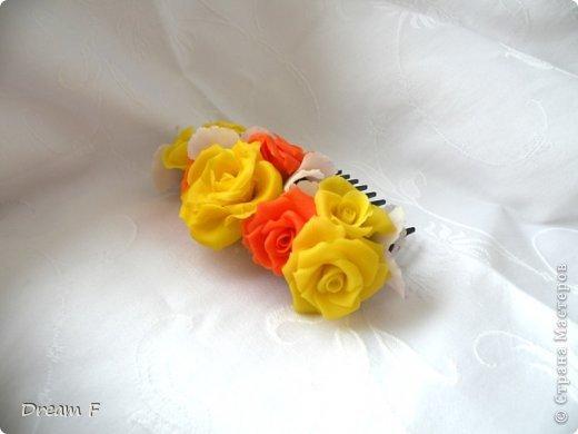 гребень с розами и анемонами фото 3