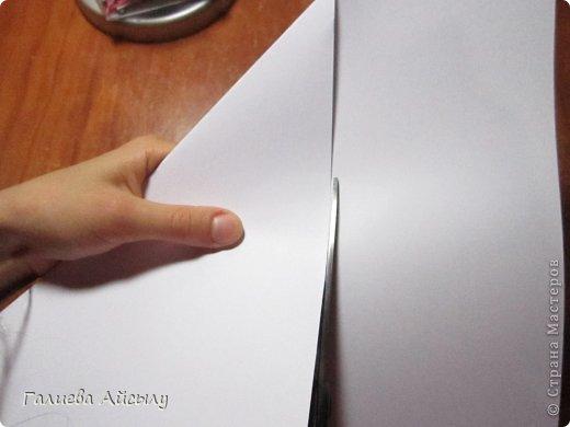 Вот такой конвертик мы сегодня сделаем.  Нам понадобится : Ножницы Бумага  Фломастеры. фото 3