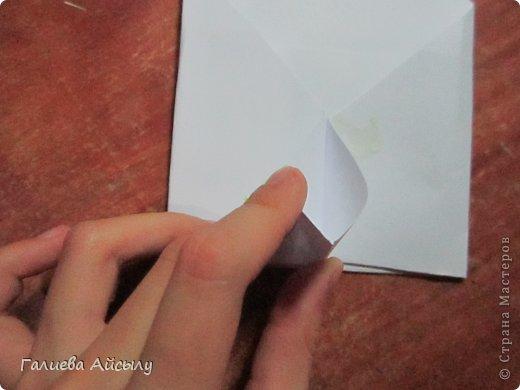 Вот такой конвертик мы сегодня сделаем.  Нам понадобится : Ножницы Бумага  Фломастеры. фото 11