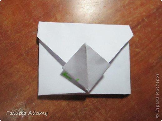 Вот такой конвертик мы сегодня сделаем.  Нам понадобится : Ножницы Бумага  Фломастеры. фото 14