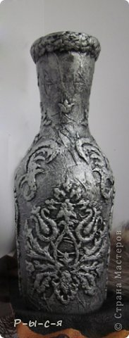 Спасибо Татьяне Сорокиной за МК http://stranamasterov.ru/node/308701?tid=451 Бутылочка со всех сторон  фото 2