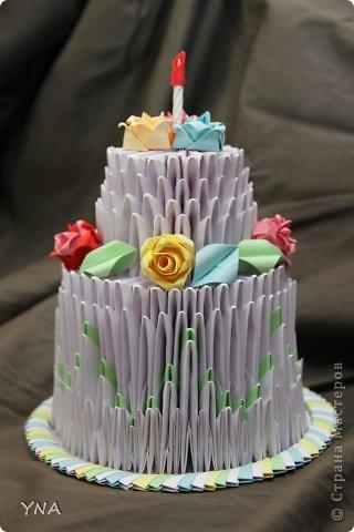 """Вторая моя работа в технике модульного оригами """"сладкое лакомство"""" фото 1"""