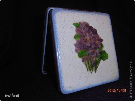 Исползовала грунт, акриловые краски и лак, рисовая бумага.Лицевая сторона. фото 2